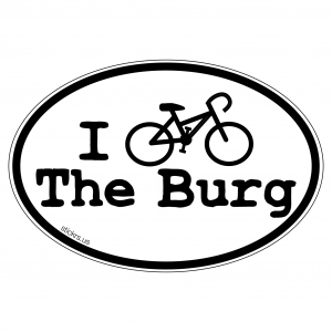 I Bike The Burg Decal Us