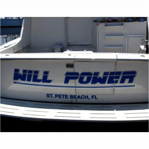 Sign Will Power Boat Rta